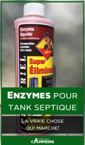 Enzymes pour tank septique