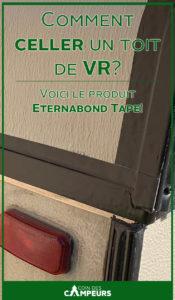 Installation du produit Eternabond Tape pour sceller un toit de VR