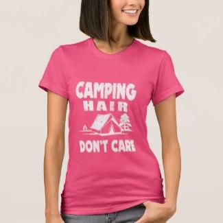 T-shirt Camping hair don't care