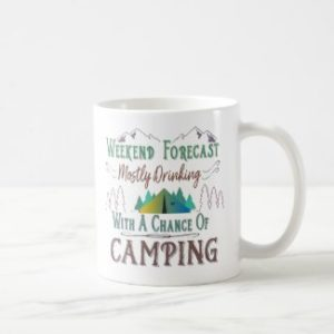 Tasse With a chance of camping