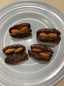 Dattes amandes et chocolat - étape 2