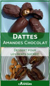Dattes amandes et chocolat