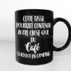Cette tasse pourrait contenir autre chose que du café surtout en camping