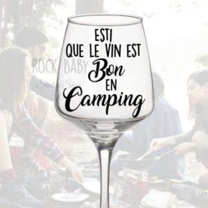 Décalque Esti que le vin est bon en camping
