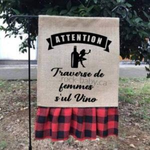 Drapeau Traverse de femme s'ul vino